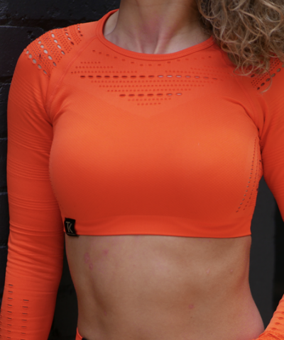 Orange Seamless Sports Bra