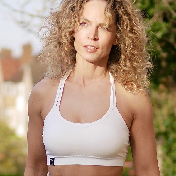Cream Seamless Sports Bra