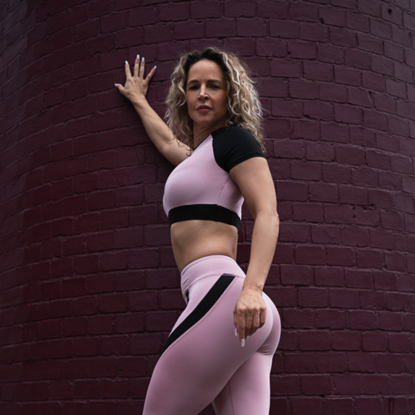 Pink & Black Leggings and Top Set